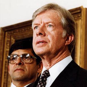 Julian Nava and President Jimmy Carter