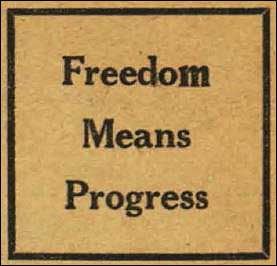 Freedom Means Progress document