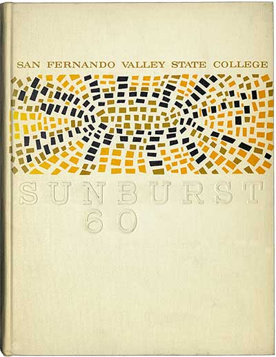 Book cover of CSUN Sunburst yearbook