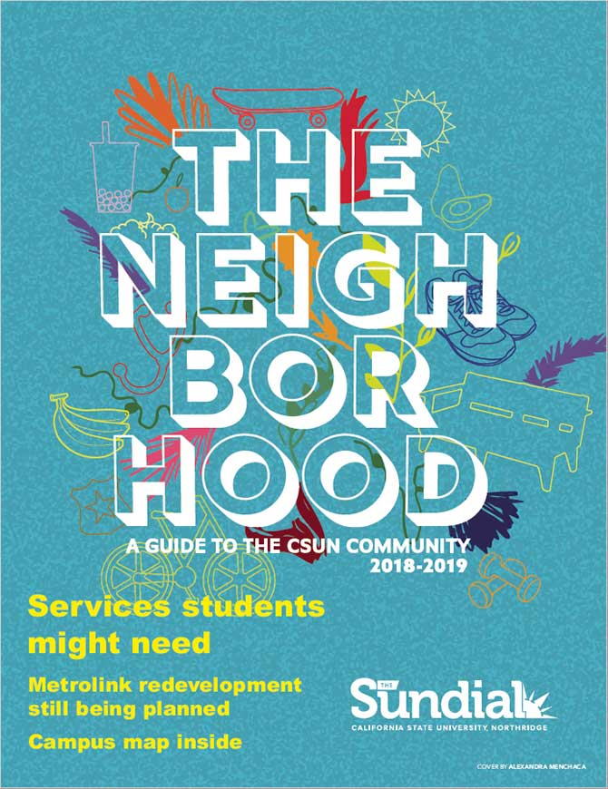 "Poster with words ""The Neighborhood"""