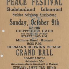 Flier for Peace Festival