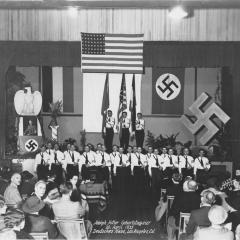 Photograph depicting celebration of Adolf Hitler's birthday