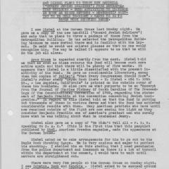 Report from Spy R-3 about the activities at German House