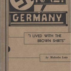 Booklet cover for Nazi Germany: I lived with the Brown Shirts