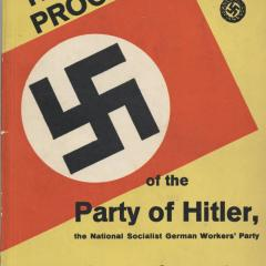 Booklet cover for Programme of the Party of Hitler