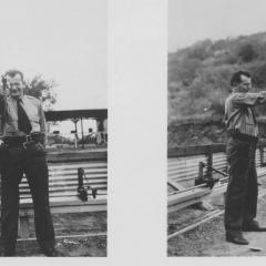 Photograph of Hans Diebel at a firing range