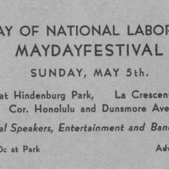 Ticket for the Day of National Labor and Mayday Festival