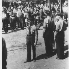 German American Bund Members at a march in Hindenburg Park