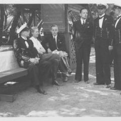 Bund choir and naval cadets at Hindenburg Park