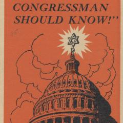 Pamphlet cover for What Every Congressman Should Know!