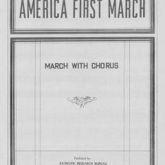 Sheet Music for America First March