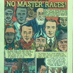 Comic book page for There Are No Master Races!