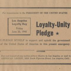 Loyalty-Unity pledge card