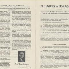 Newsletter announcing Movies: A Jew Monopoly