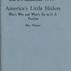 Booklet cover for America's Little Hitlers
