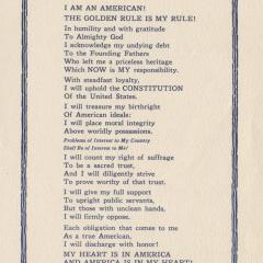 Hanbill titled I Am an American!