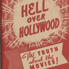Booklet cover for Hell Over Hollywood: The Truth About the Movies!
