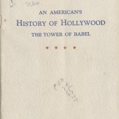 Booklet cover for American's History of Hollywood