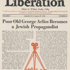 Cover for the Liberation magazine