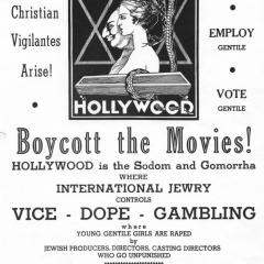 Flier for Boycott the Movies!
