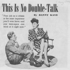 Brochure titled This Is No Double-Talk