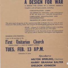 Flier for Do You Want a Design for War