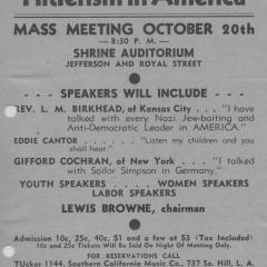 Flier for Menace of 'Hitlerism in America'