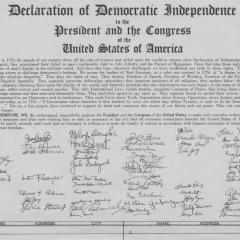 Page from Declaration of Democratic Independence