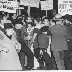 Photograph of people at the United Anti-Nazi Conference Rally