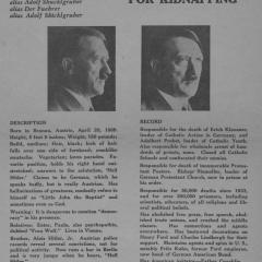 Handbill titled WANTED for Kidnapping: Adolf Hitler