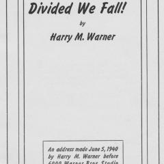 Booklet cover for United We Survive, Divided We Fall!