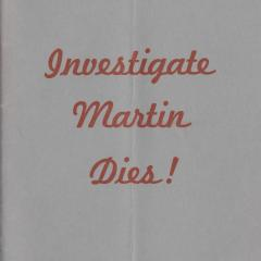 Booklet cover for Investigate Martin Dies!