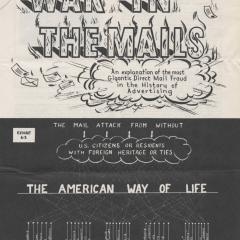 Booklet titled War in the Mails