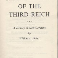 Book cover for Rise and fall of the Third Reich