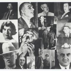 Montage with photographs of various seditionists