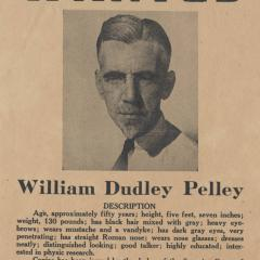 Poster titled WANTED: William Dudley Pelley