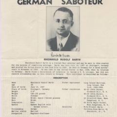 Wanted bulletin for Rheinhold Rudolf Barth
