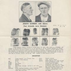 Wanted bulletin for Joseph Schmidt