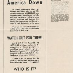 Newspaper page titled Don't Let America Down