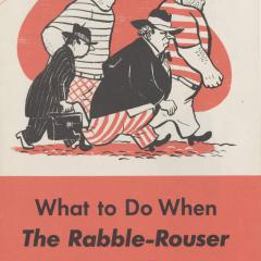 Booklet cover for What To Do When the Rabble-Rouse Comes to Town