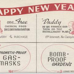Ad flier titled Happy New Year