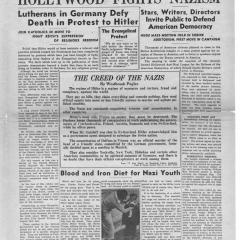Page from the Anti-Nazi News Newspaper
