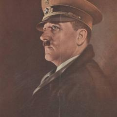 Film program with cover showing portrait of Adolf Hitler