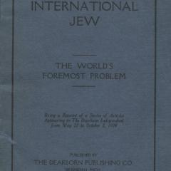 Book cover for the International Jew