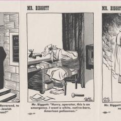 Cartoon strip of Mr. Biggott