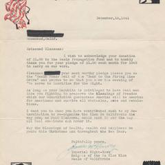 Letter titled Non Silba Sed Anthar