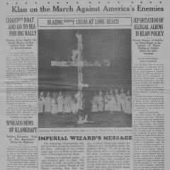 Newspaper page of The Fiery Cross