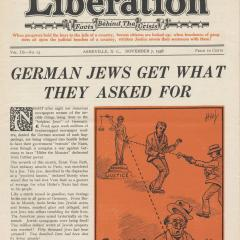 Magazine cover for the Liberation