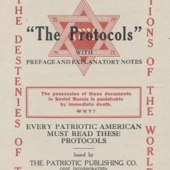 Handbill for Read About 'The Protocols'