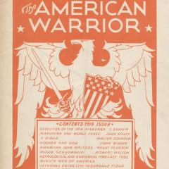 Magazine cover for the American Warrior
